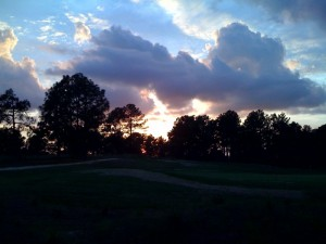 Sunset in Southern Pines North Carolina